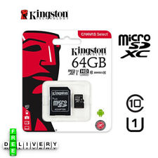 Kingston 64GB Micro SD memory Card Class 10 Memory with SD card Mobile devices