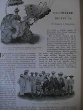Bicycle Bike Dayton Cycling Club Pageant Decorated Antique 1899 Article