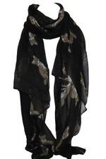 Sciarpe, foulard e scialli da donna neri senza marca fantasia stampa animalier