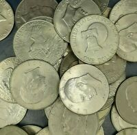 """A (Lot of 10) Eisenhower """"IKE"""" DOLLAR U.S. Mint Coins Average Circulated!"""