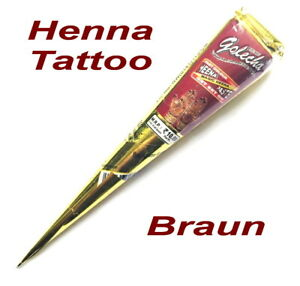 Henna Paste Tube Rot Braun 25g Golecha Indien *Henne Tattoo Kina Stift Mehndi*