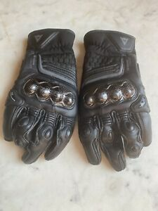 Dainese Carbon 3 Short Leather Motorcycle Gloves Black/Black