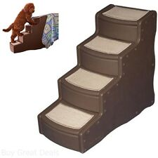 30In High Tall Pet Dog Cat 4 Steps Stairs Ladder Ramp Bed Climb Easy Step Helper