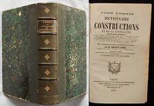 M/ Code Perrin Dictionnaire des Constructions (A.Rendu) 1870 DROIT / législation