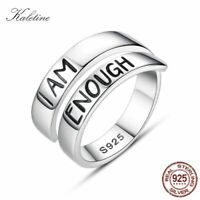 925 Sterling Silver I Am Enough Statement Ring Suicide Awareness Unisex Fashion