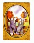 Beautiful  Little Boys at a Fence Rail -- Modern  Wide Swap Playing Card