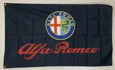 Alfa Romeo Banner 3x5 Ft Flag Logo Garage Wall Car Show Racing Giulia 4C Stelvio