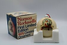 Vintage Norman Rockwell First Limited Edition 1975 Christmas Ornament Vtg