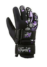 HO Water Sports Espirit Ladies' Waterski Gloves, XS to L Black Purple. 73103