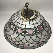 Vintage DALE TIFFANY INC. Signed Stained Glass Lamp Shade 21""