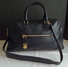 MARC JACOBS  Venetia Handbag Black Leather made in Italy