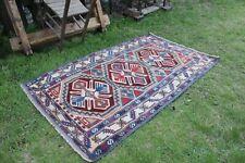 """Vintage Handmade Turkish Oushak Area Rug  5'8""""x3'5"""""""