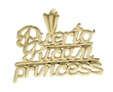 Puerto Riccan Princess Charm in 14 kt Yellow Gold.
