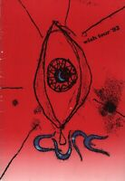 THE CURE 1992 WISH TOUR CONCERT PROGRAM BOOK BOOKLET / ROBERT SMITH / VG 2 NMT