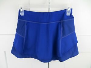 Athleta blue athletic skirt skort shorts XXS zipper pocket  running tennis