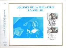 FEUILLET PHILATELIQUE JOURNEE DE LA PHILATELIE   8 03 1981