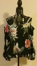 NEW Floral Cold Shoulder swing top with long sleeves, size 12