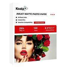 Koala 100 Sheet 8.5x11 Matte Inkjet Print Presentation Photo Paper 108g HP Epson