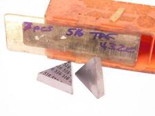 New Surplus 7pcs Carboloy Tpg 432e Grade 516 Carbide Inserts