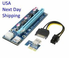 PCIe Riser Extender 1X to 16X 60cm USB 3.0, 4 Solid Capacitors 6 Pin Power