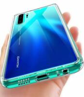 Clear Case For Huawei P30 Pro Tempered Glass Back Hybrid Soft TPU Bumper Cover