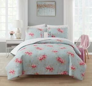 simply shabby chic Rachel Ashwell - Belle Hydrangea - 4 piece King Comforter Set