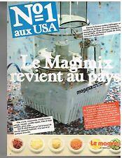 Publicité Advertising 1980 Le Robot de cuisine magimix