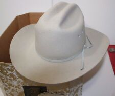 Vintage Beaver Hats Company, 100% Fur Rancher Style Hat, Silver, Size 6 1/2, NEW