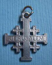 silver charm Vintage Jerusalem cross