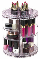 Sorbus 360° Makeup Organizer, Rotating Adjustable Carousel Storage  (Purple)