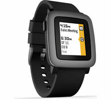 Pebble Time Smartwatch for Apple or Android Black