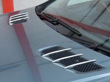 Mercedes R230 SL Chrome Bonnet Hood Fins set SL350 SL500 SL55 SL65 SL600 SL63