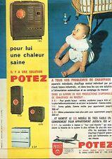 I- Publicité Advertising 1961 Le Chauffage au Mazout Potez bébé