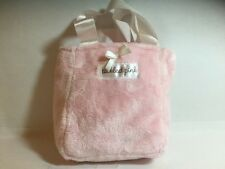 TICKLED PINK - Furry Pink Bag with Short Ribbon Strap