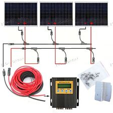 500-Watt Poly Solar Panel off Grid Kit with Bracket for RV Boat 24-Volt Battery