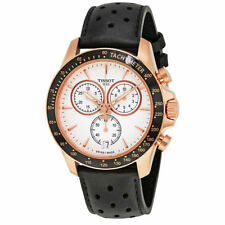 Tissot T-Sport V8 T1064173603100 Chrono Rose Gold Leather 42mm Swiss Mens Watch