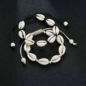 Bohemian Trendy Shell Handmade Bracelet Natural Seashell Charm Anklet Jewelry#Q