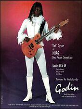 Kat Dyson (Prince and The New Power Generation) 1997 Godin LGX SA guitar ad
