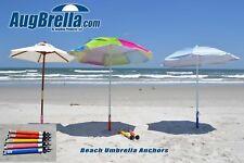 WHITE AugBrella Commercial Beach Umbrella Anchor Made in USA