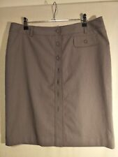 Seduce Ladies Skirt in Grey with a Fine Pink Stripe Lined Size 14