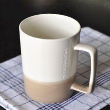 NEW Starbucks Coffee Mug Milk Cups 16oz Ceramic White&Brown Gift Limited Edition