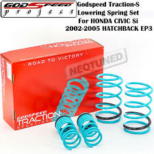 GODSPEED TRACTION-S LOWERING SPRINGS FOR 2002-2005 HONDA CIVIC SI HATCHBACK EP3