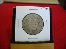 1910  CANADA  SILVER  HALF  DOLLAR  50 CENT PIECE   10  NICE GRADE  SEE PHOTOS