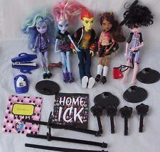 Lot 5 Mattel Monster High Dolls Boys Girls Heath Burns Draculaura Clawdeen Wolf
