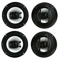 "4) New Boss Riot R63 6.5"" 600W 3 Way Car Audio Coaxial Speakers Stereo 4 Ohm"
