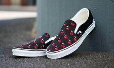 Vans CLASSIC SLIP ON Cherries Black Women's Shoes Size 6