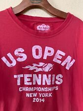 Red Jacket T-Shirt Us Open 2014 Retro Distressed Graphic Red Size Large