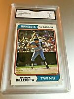 HARMON KILLEBREW (HOF) 1974 Topps #400 GMA Graded 8