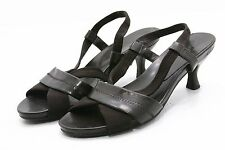 Solanz Heels Shoes Womens 9.5 LEATHER Ankle Strap Slingback Sandals Pumps