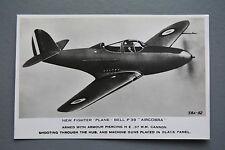 R&L Postcard: Valentine, New Fighter Plane Bell P39 Aircobra